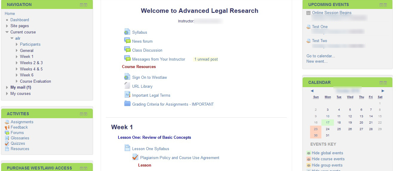CLS: What Do I Do Now That I've Logged Into My Course?